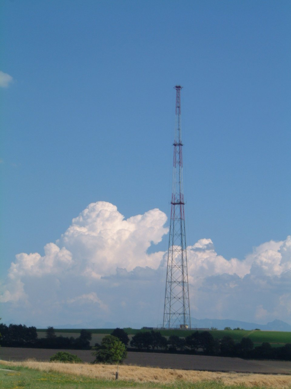 The Sottens Transmitter And Antenna Two Points Are In One Line West View Of Main