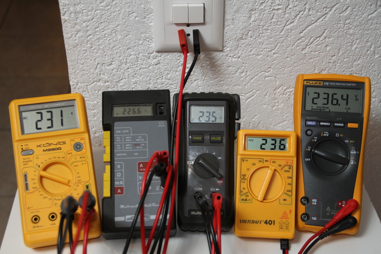 Measuring The Power Factor With Three Voltmeters Method Should See On Oscilloscope When You Measure Real Rc Circuit Five Multimeters Reading Mains Voltage They Dont All Agree Same