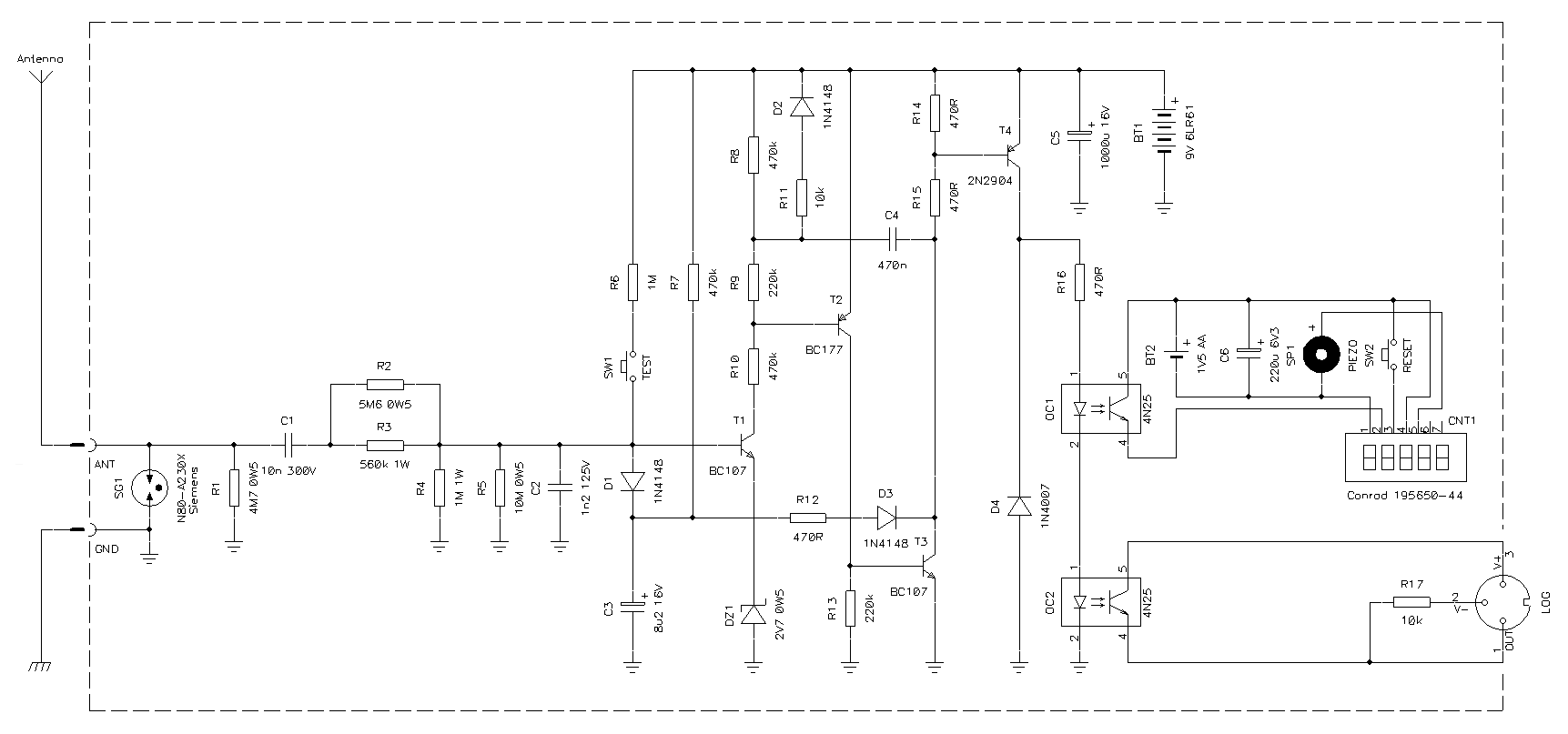 A Lightning Flash Counter Blinking Led Circuit Click For Pdf Version Schematic Diagram Of The To Enlarge