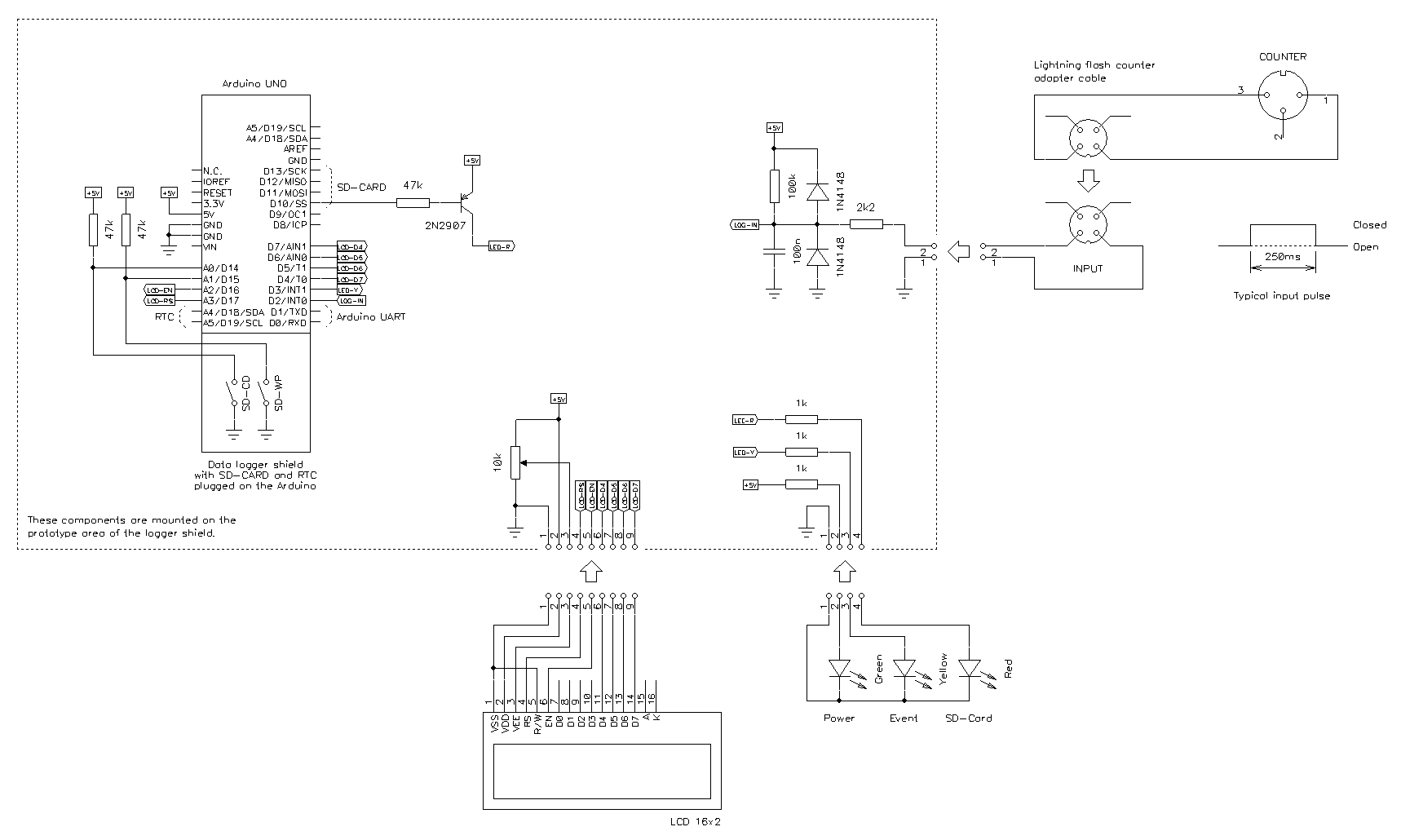 A Lightning Flash Counter Circuit Design Schematic Diagram Of The Logger Click To Enlarge