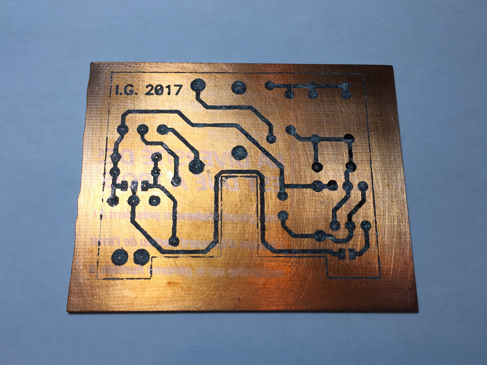 Etching Printed Circuits Boards At Home Example Circuit Board Using Mainly Surface Mount Electronic Not All Toner Transferred Well So I Had To Re Touch Some Areas With