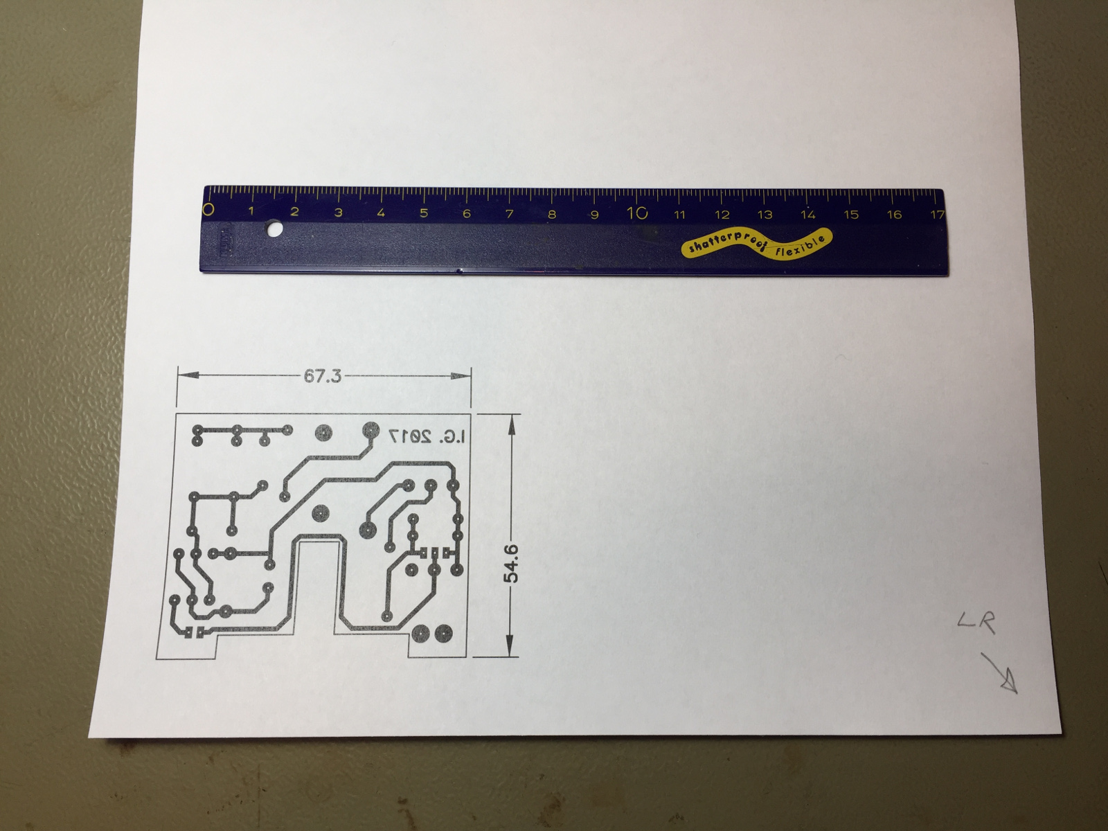 Etching Printed Circuits Boards At Home Design Tools Give Engineers An Edge In Online Circuit Board Test Print On A Blank A4 Sheet The Hand Drawn Arrow Right